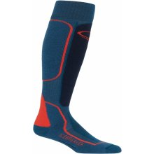 Icebreaker Mens Ski+ Medium OTC, PRUSSIAN BLUE/Midnight Navy/CHILI RED