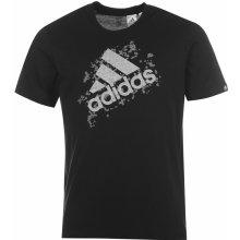 Adidas Perf Logo T Shirt Mens Black