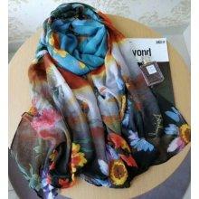 Desigual barevný šátek Flower 06b3b9ca88