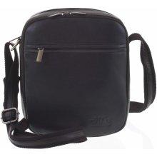 pánská kožená taška přes rameno Mini King černá be24c405158
