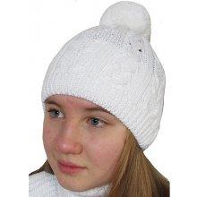 Dráče Dívčí zimní čepice DR911 Bílá 56fa597267