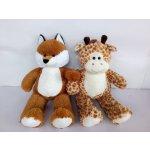 Zvířata plyšová žirafa liška 80cm