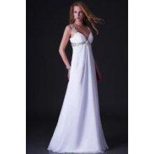 Bílé plesové nebo svatební šaty na ramínka