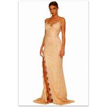 Plesové šaty krajkové dlouhé 161696-18 pudrová 1e30dc18d3