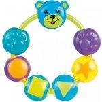 Canpol Babies Chrastítko medvídek a korálky modré