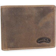 Nivasaža N59 HNT BR hnědá pánská kožená peněženka