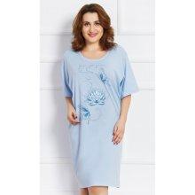 71d55c8e84b Vienetta Secret Pavla dámská noční košile s krátkým rukávem světle modrá
