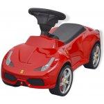 vidaXL Odrážedlo auto Ferrari 458 červené