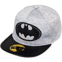 Dětská čepice Hip Hop chlapecká kšiltovka Batman šedá c3c8072604