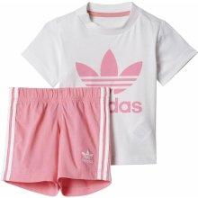 Adidas TEE SHORT SET bílá