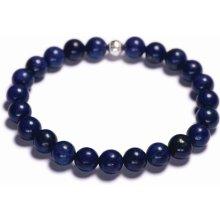 Lavaliere pánský korálkový náramek modrý lapis lazuli 00601