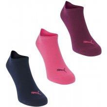 9e25ca62fd8 Puma 3 Pack Sneaker Socks Dark Purple