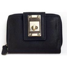 velmi kvalitní kožená peněženka černá