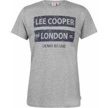 Lee Cooper C Tex LogoTee Sn83 Grey Marl