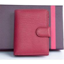 IL Giglio italská kožená peněženka růžová