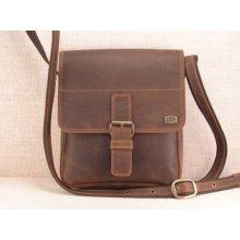 kožená taška přes rameno 453-101 hnědá kaštan 6a358ce90c8