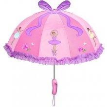 Blooming Brollies Dívčí deštník s balerínou - růžový