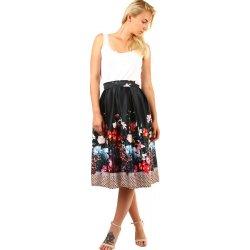 96c92c2b92c6 TopMode skládaná áčková retro sukně s potiskem černá od 1 245 Kč ...