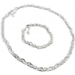 5b9fe2e250 Aranys stříbrný komplet náhrdelník a náramek L-168 od 1 899 Kč ...