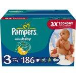 Pampers Active baby 3 midi 186ks