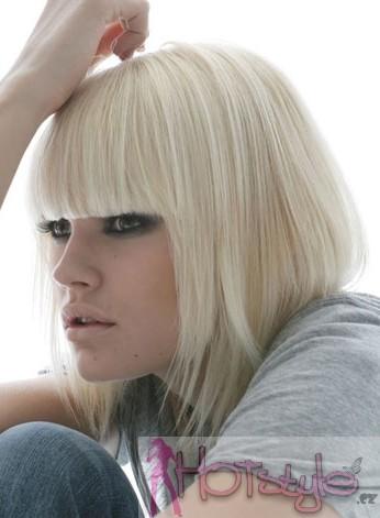 Clip in ofina 100% lidské vlasy - REMY - platinová blond