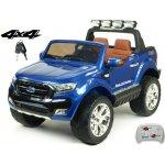 ChuChu Dvoumístný Ford Ranger Wildtrak 4x4 náhon všech EVA kol 24G DO bluetoothFMUSBTF otvíracími dveřmikapotoučelem 2xbaterie modrá metalíza