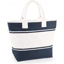 Dvoubarevná plátěná taška do ruky Quadra modrá námořní béžová