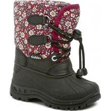 Cortina.be Slobby 46-0338-T1 dívčí sněhule dětská obuv černo -červené