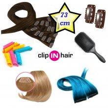 Clip in deluxe balíček – clip vlasy 73cm REMY pravé lidské
