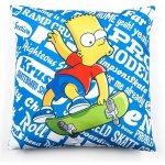 Jerry Fabrics Polštář Bart Simpson na skatu polyester 40x40