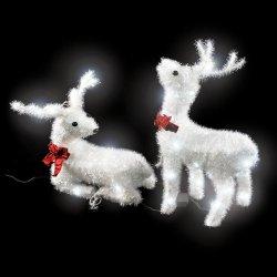 TECTAKE Venkovní vánoční osvětlení LED svítidla bílé soby