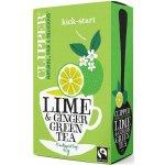 Clipper Fair Trade zelený čaj Limetka a Zázvor 20 s