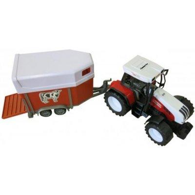 obchod-detem Farm World Velký traktor s přívěsem na zvířata