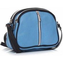 Genuine Leather listonošky 3 přihrádky modrá