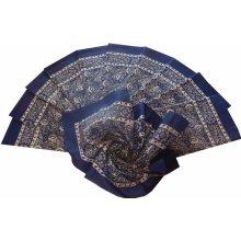 Etex s.r.o Bavlněný velký šátek modrý květovaný 0098c5f071
