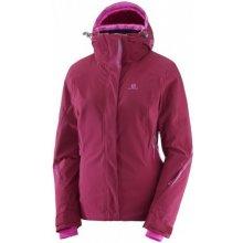 Salomon Brilliant Jacket W beet red 396880 dámská nepromokavá zimní lyžařská  bunda 9680005e88