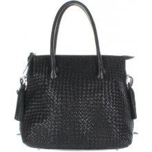 Another Bag La Serei M Plaited shopper černý