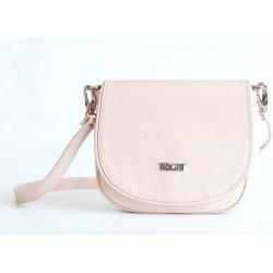 Bright Lovecká kabelka malá kožená s klopnou přes rameno růžová ... 9e2ff0e2374
