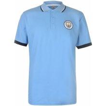 Source Lab Manchester City Polo Shirt Mens Sky Blue