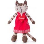 Lumpin Kočička Angelique v jahodových šatech střední 23 cm
