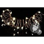 Garthen Vánoční světelný řetěz - MINI 50 LED s časovačem - teple bílá
