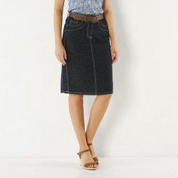 57f02cc4273 Blancheporte Džínová sukně s rozparkem modrá