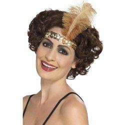 Karnevalový kostým Čelenka s peřím 30.léta zlatá 4c1b318521