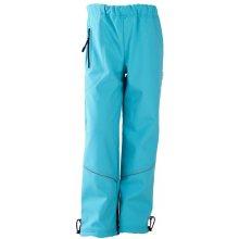 ad75f0045a95 Softshellové nepromokavé kalhoty podšité fleecem tyrkysové