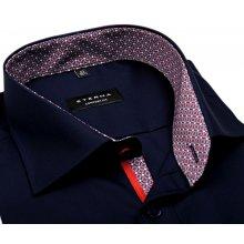Eterna Comfort Fit – tmavomodrá košile s červeno-modrým vnitřním límcem 955cd29969