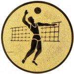 Pohary.com Emblém volejbal muž zlato 25 mm