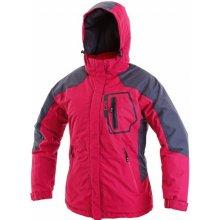 Havre dámská zateplená bunda růžovo šedá