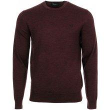 Fred Perry Svetry Classic Crew Neck Sweater Červená