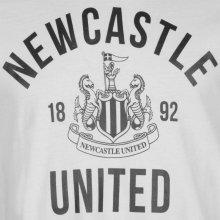 NUFC Newcastle United Graphic T Shirt Mens White