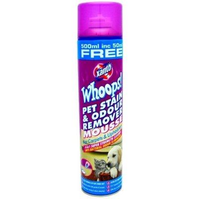 Xanto Whoops pěnový odstraňovač skvrn a pachu z domácích zvířat 500 ml